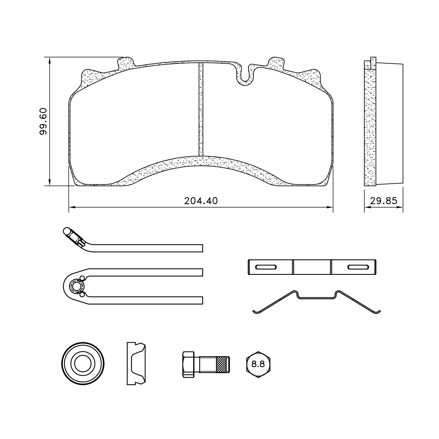 mpbd1517cv - midland disc brake pad repair kit